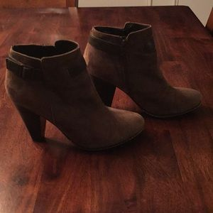 Ankle boots brown suade.  Euro soft.  Hardly worn